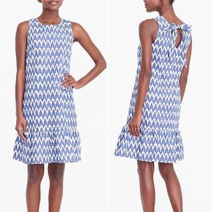 J Crew Printed Sleeveless Bow Back Dress